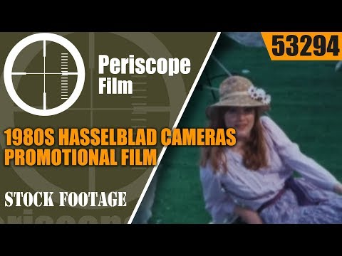"""1980s HASSELBLAD CAMERAS PROMOTIONAL FILM  """"A WORLD OF PICTURES"""" 53294"""