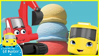 Digger Builds a Wobbly Birthday Ice Cream | Go Buster | Baby Cartoons | Kids Videos | ABCs and 123s