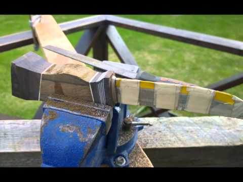 How to make a stacked wood handle for puukko knife