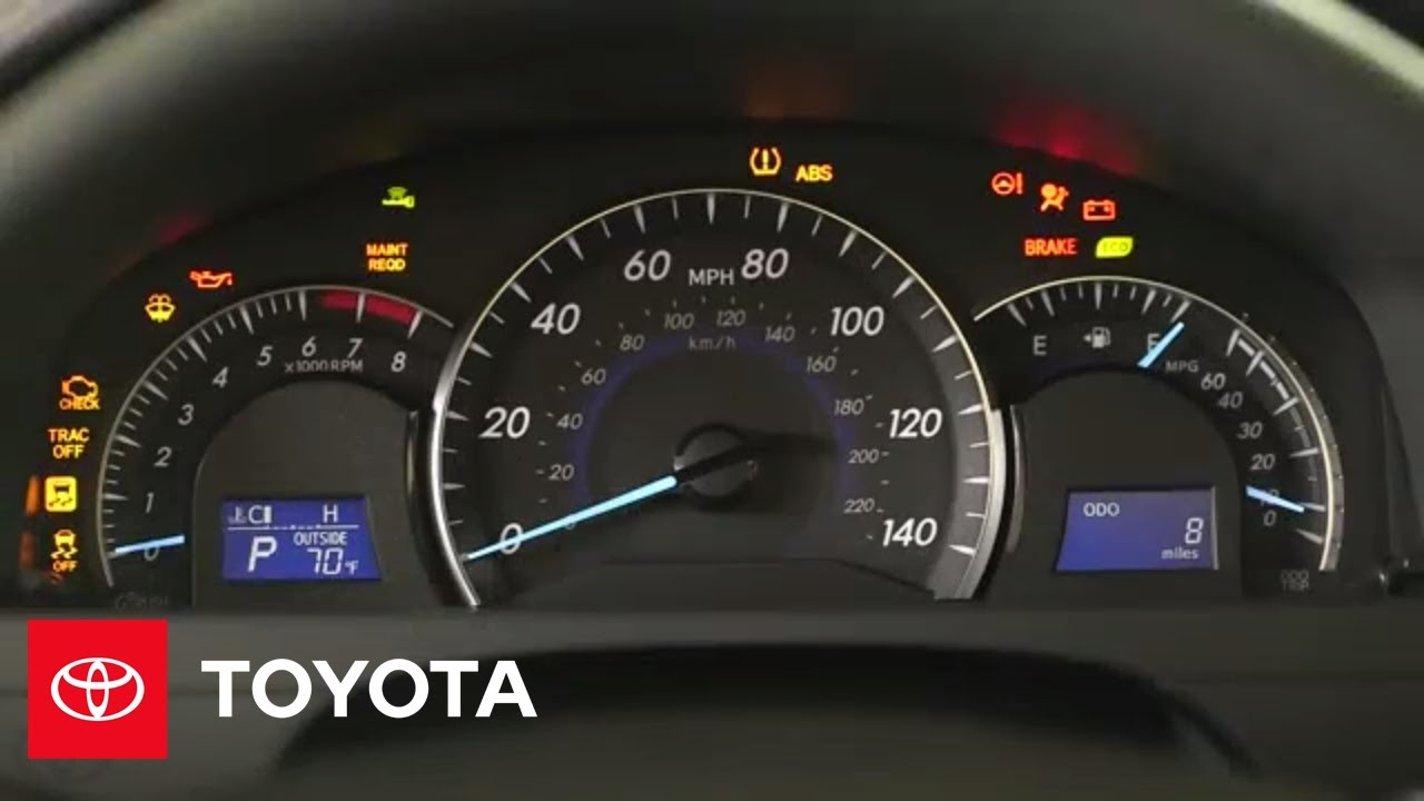 2014 5 camry how to dashboard warning lights toyota [ 1280 x 720 Pixel ]
