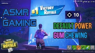ASMR Gaming | Fortnite Default Skin Power Relaxing Gum Chewing 🎮Controller Sounds + Whispering😴💤