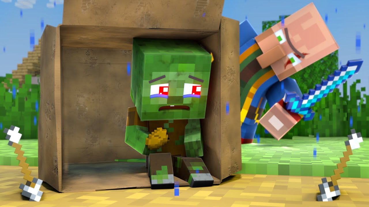 The minecraft life of Steve and Alex | Child abandonment  Zombie | Minecraft animation