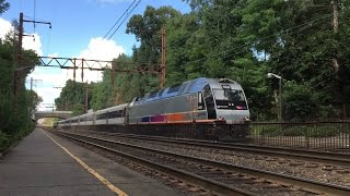 NJ Transit HD 60 FPS: Morristown Line Late Afternoon Trains @ Mountain Station 8/12/15