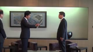 福岡市長 高島宗一郎 (株)トーホーから社会福祉向上のための寄付金受納・感謝状贈呈式に出席しました!