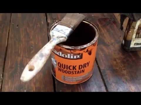 Repairing, filling, staining  floorboards    part 1