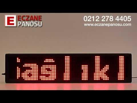 Nöbetçi Eczane Panosu 60cm - Örnek Mesaj