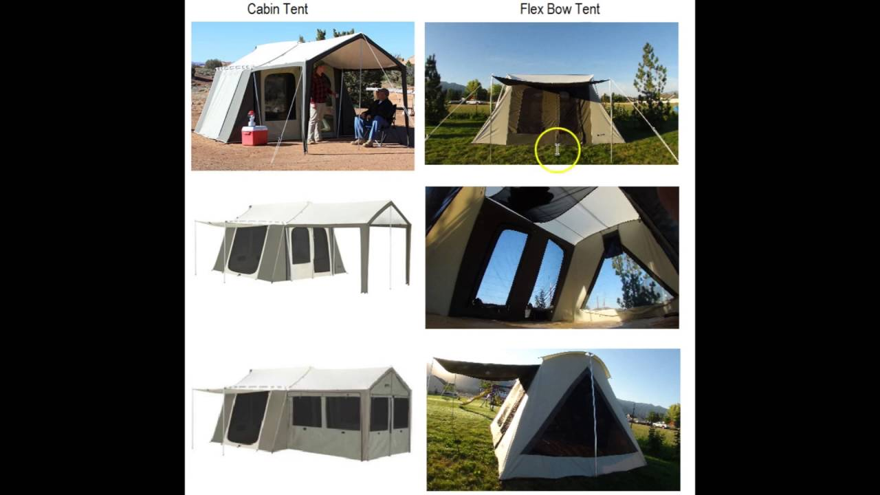 Kodiak Canvas Cabin Tent Vs Flex Bow Tent   YouTube