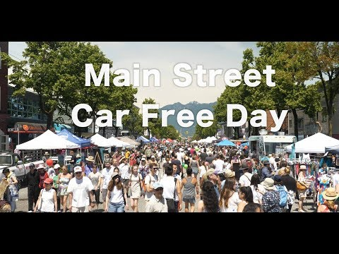 Vancouver Car Free Day on Main Street