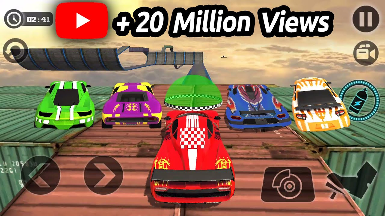 Impossible Stunt Car Tracks 3D All Vehicles Unlocked – Android GamePlay 2017