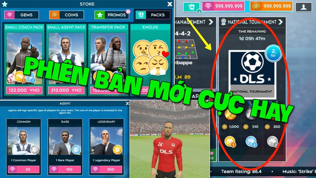 Những TÍNH NĂNG mới cực HAY trong phiên bản cập nhật V7.21   Dream League Soccer 2020