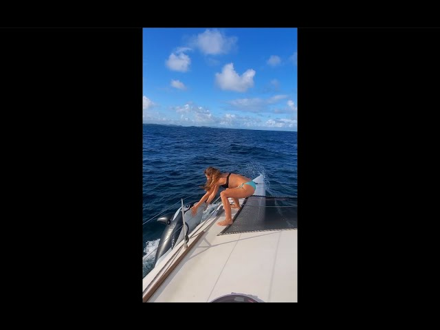 Killer Whale Attacks Our Sailboat (an inflatable one 😘) #shorts