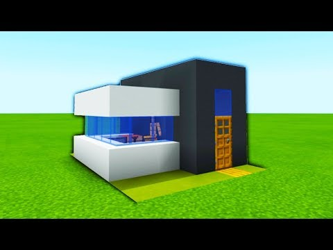 minecraft-tutorial:-how-to-make-the-easiest-modern-house-ever-made