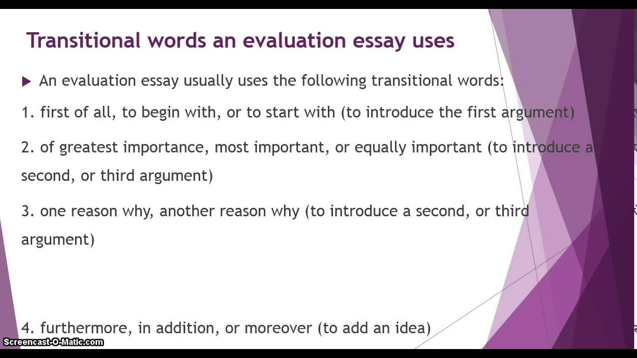 evaluation essay evaluation essay
