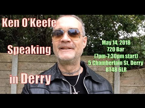2nd Attempt to Stop Ken O'Keefe Talk in Derry - FAIL! - 135,000 Families Pending Eviction