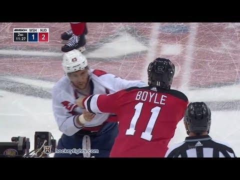 Tom Wilson vs Brian Boyle Jan 18, 2018