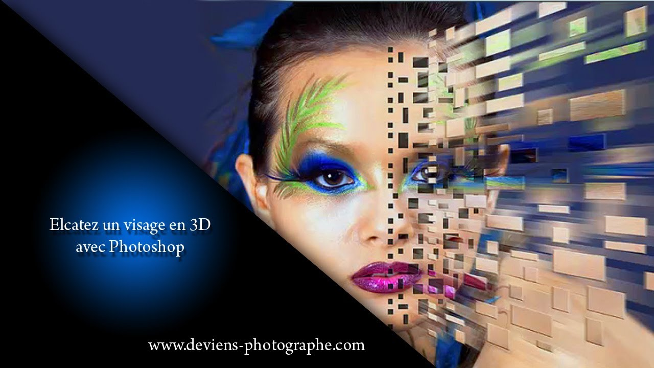 chapitre xi retouche photoshop effet 3d sur un visage youtube. Black Bedroom Furniture Sets. Home Design Ideas