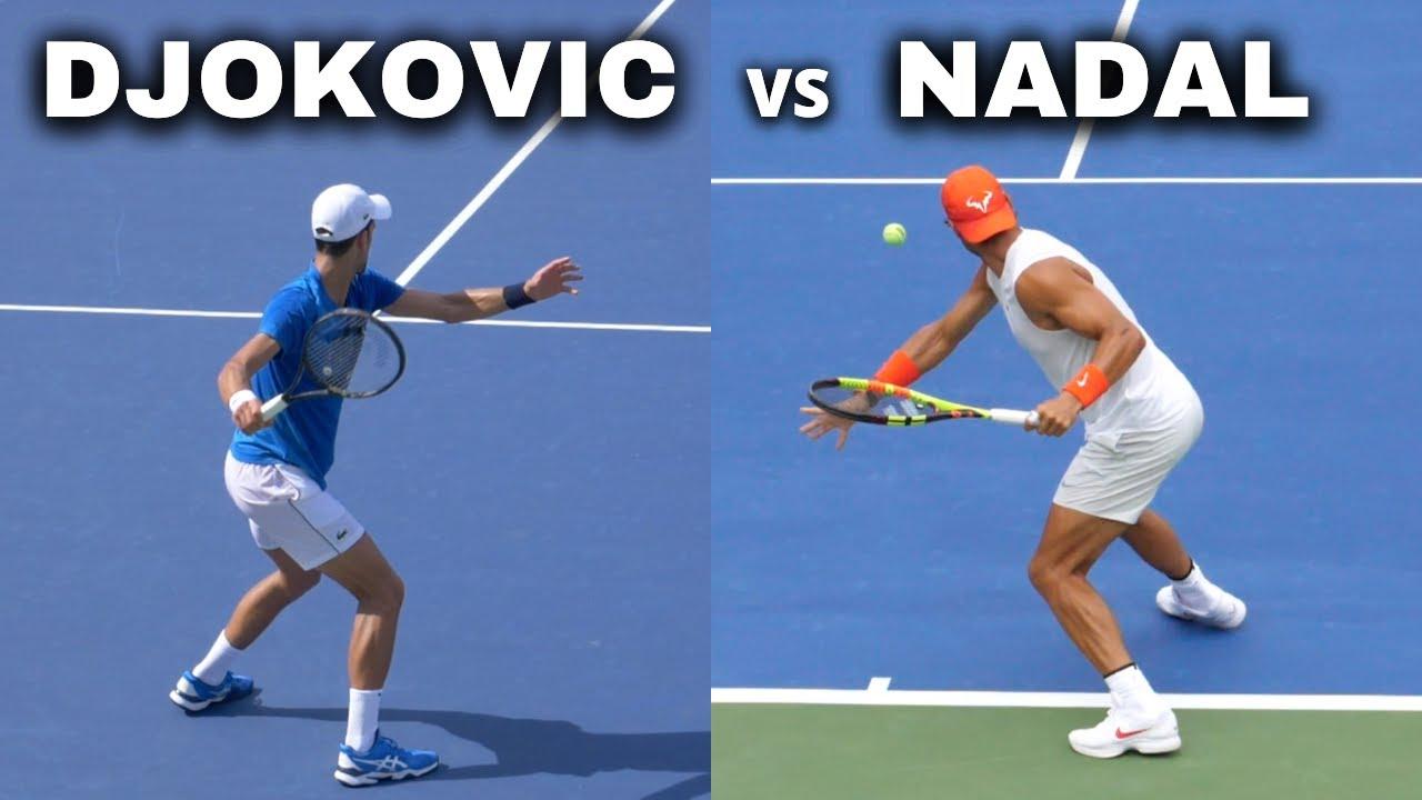 Rafael Nadal vs Novak Djokovic Slow Motion Serve, Forehand, Backhand, Volley, Return - ATP Tennis