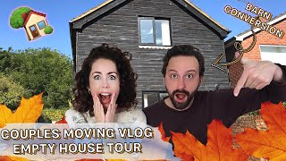 NEW EMPTY HOUSE TOUR + MOVING VLOG 1 | UK Barn Conversion/Cottage Life! 2019 🏡
