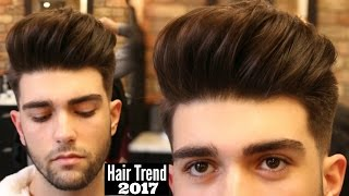 BIG VOLUME QUIFF - Mens Haircut & Hairstyle Trend 2018 Tutorial