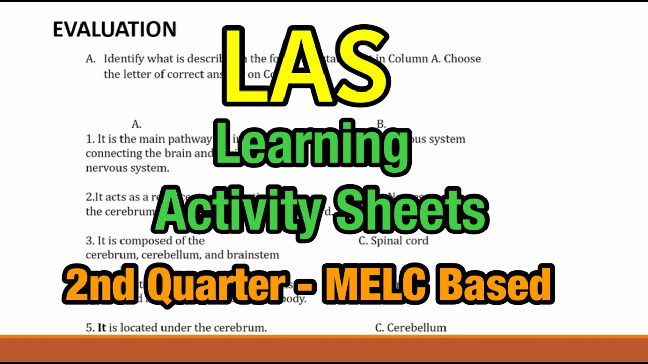 hight resolution of LAS- Learning Activity Sheets 2nd Quarter - YouTube