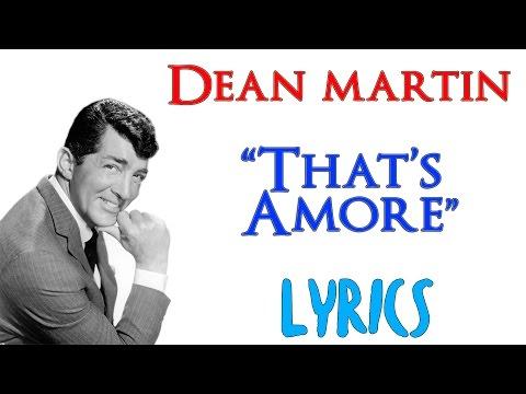Dean Martin - That's Amore - (Lyrics) ENG ITA [HD]