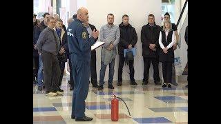 В Торговом центре «Славянский» прошло обучение правилам пожарной безопасности