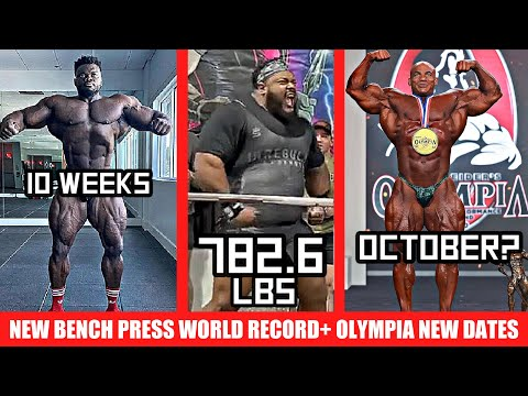 Julius Maddox Breaks World Record AGAIN! + Olympia moved to October 2021? + Blessing 10 Weeks Out