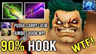MARVELOUS 90% Invisible Hook Pro Pudge Carry Counter Void Epic Hook Max Range 7.22 Dota 2