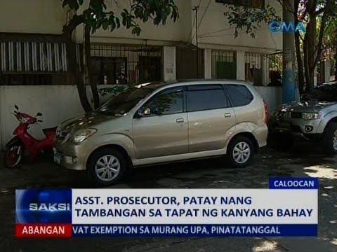 Saksi: Asst. prosecutor, patay nang tambangan sa tapat ng kanyang bahay