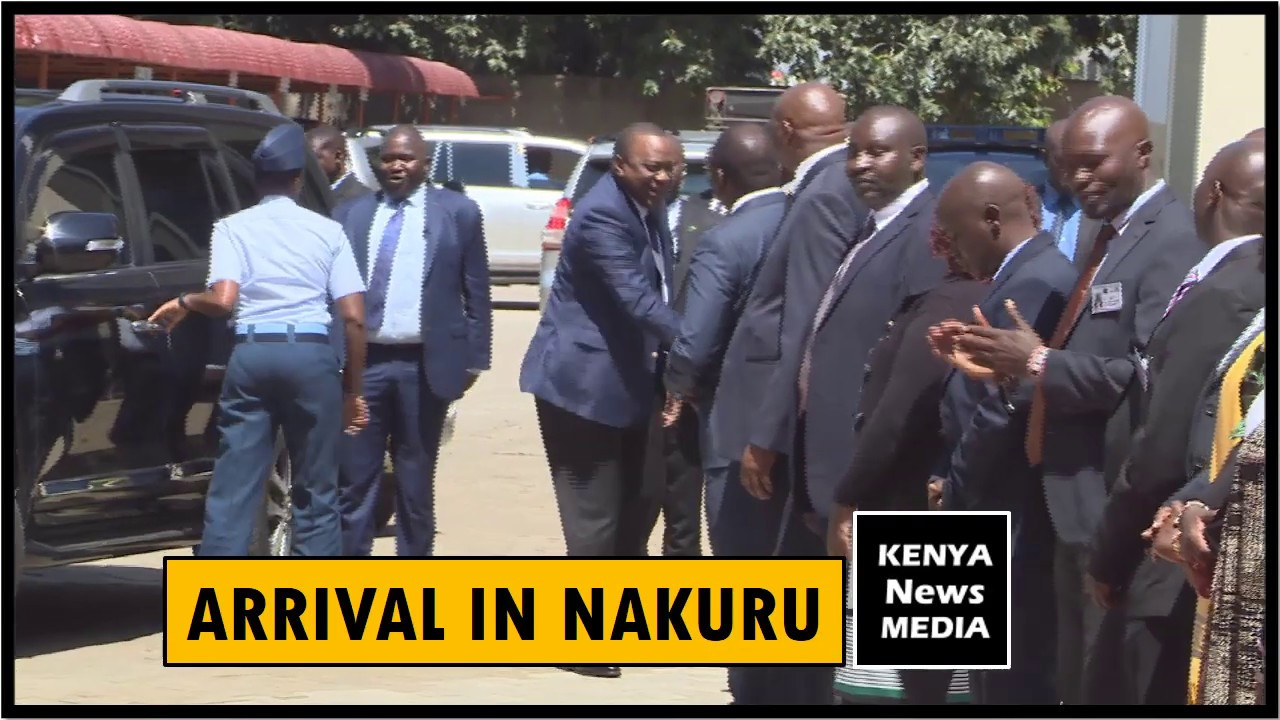 UHURU KENYATTA ARRIVAL AT NAKURU ASSEMBLY FOR OFFICIAL OPENING