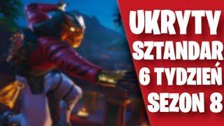 FORTNITE - UKRYTY SZTANDAR *GWIAZDKA* TYDZIEŃ 6 SEZON 8 *LOKALIZACJA* | BATTLE ROYALE |