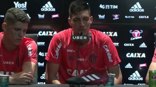 Entrevista coletiva - Thiago, Léo Duarte e Ronaldo