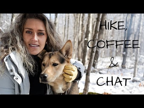 hike,-coffee-and-campfire-chat-in-winter-wonderland-with-my-dog-|-first-snowfall!