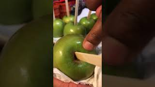 How to clean the wax off your apples!