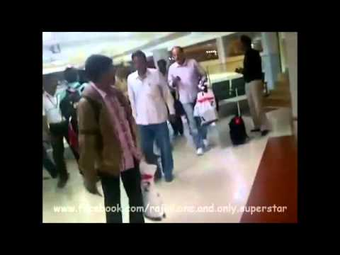 Indian Super Star Rajini Kanth's   Super Star Rajini at Chennai Airport