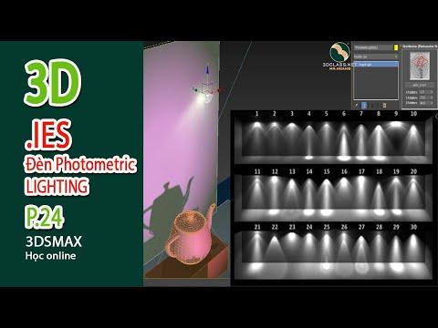 Bài 24, Lighting, đèn Photometric, đèn ies, cách dùng và tùy biến, Khóa 3D Event Quảng Cáo Sân Khấu
