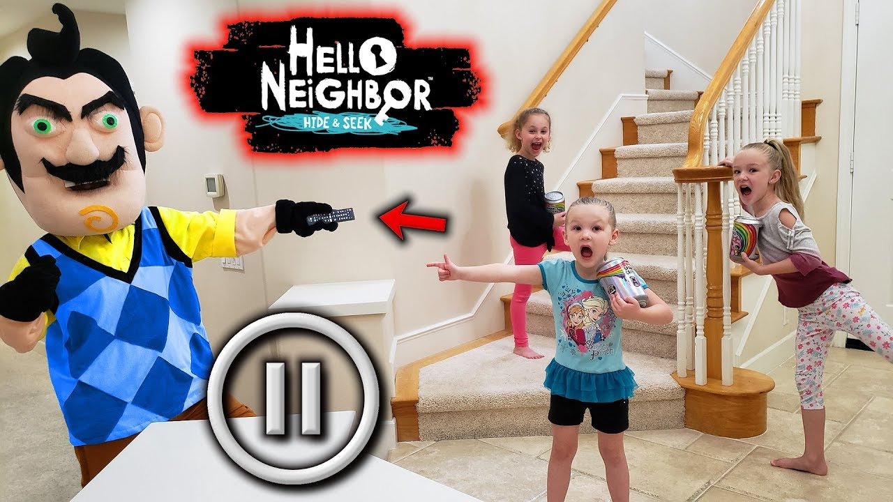 Hello Neighbor Pause Challenge in Real Life! Poopsie ...