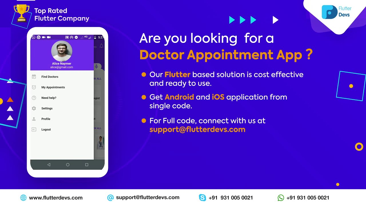 Flutter Doctor Appointment App
