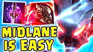 NOCTURNE MID IS GOD TIER!! (21 kilIs) | MID LANE IS TOO EASY! - League of Legends