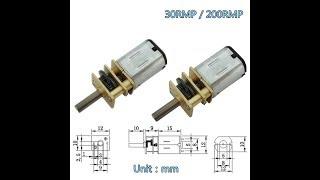 обзор мотор редуктор 6v 30 об,мин
