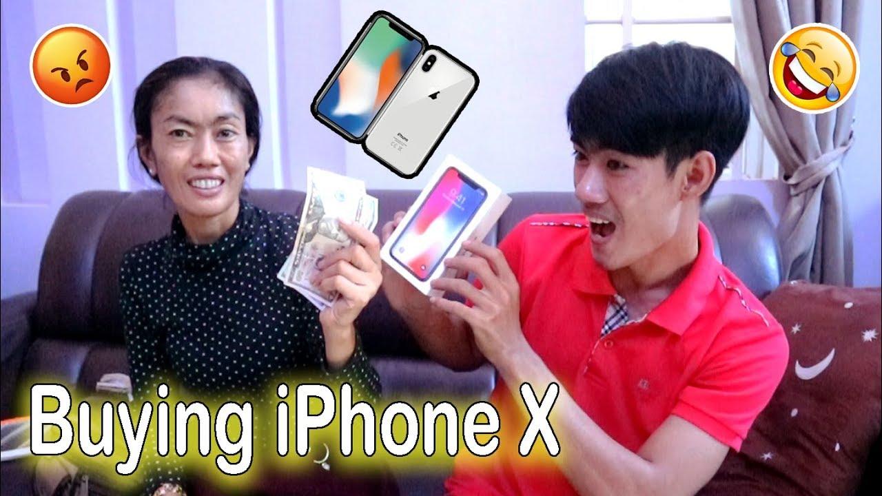 Buying iPhone X Prank My Mom Gone Wrong - Khmer Prank 2019/Drawing Life