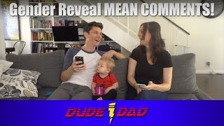 Gender Reveal Mean Comments!