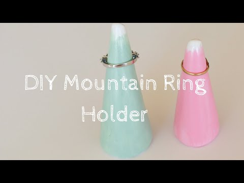 How to make a ring holder diy