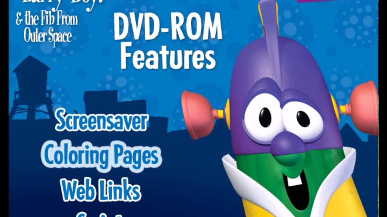 veggietales larry boy and the fib from outer space dvd rom youtube
