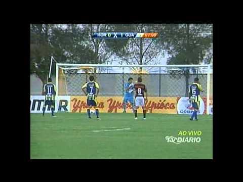 Confira os dois gols do Horizonte contra o Guarany no Domingão.