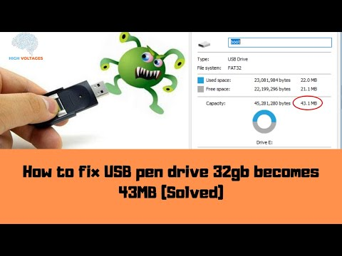 How To Fix USB Pen Drive Showing Less Space (Solved)