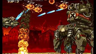 Metal Slug 2 - Super Vehicle-001+II - Metal Slug 2- Mission 3 (Great!) - MAME - User video