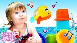 Vidéo en français pour enfants. Show Bonjour Bianca. Jeux à la piscine