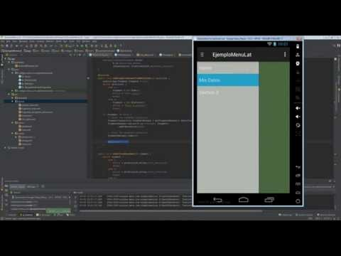 Hacer un menú lateral nativo con Android