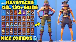 "NEW ""HAYSTACKS"" BACK BLING Showcased With 120+ SKINS! Fortnite Battle Royale (BEST HAYSTACKS COMBOS)"
